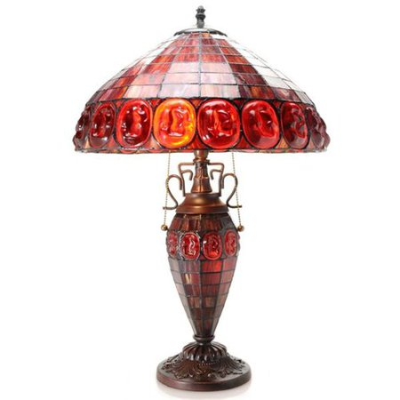 Warehouse Of Tiffany Angie Double Lit 24 Table Lamp