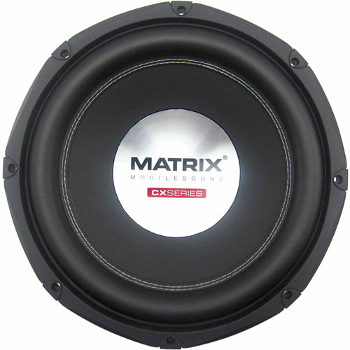 """Matrix Mobilesound 12"""" Dual Voice Coil Double Stacked Magnet Subwoofer, 1400W"""
