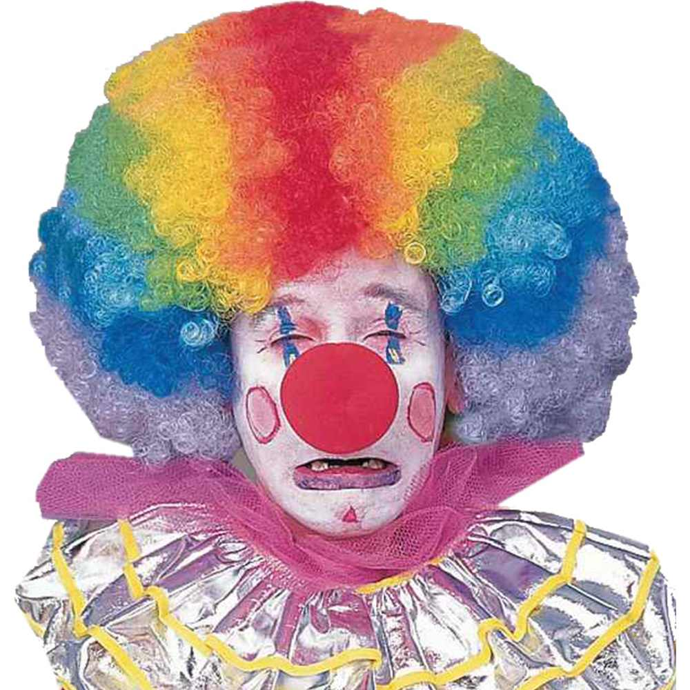 Extra Large Rainbow Afro Clown Wig