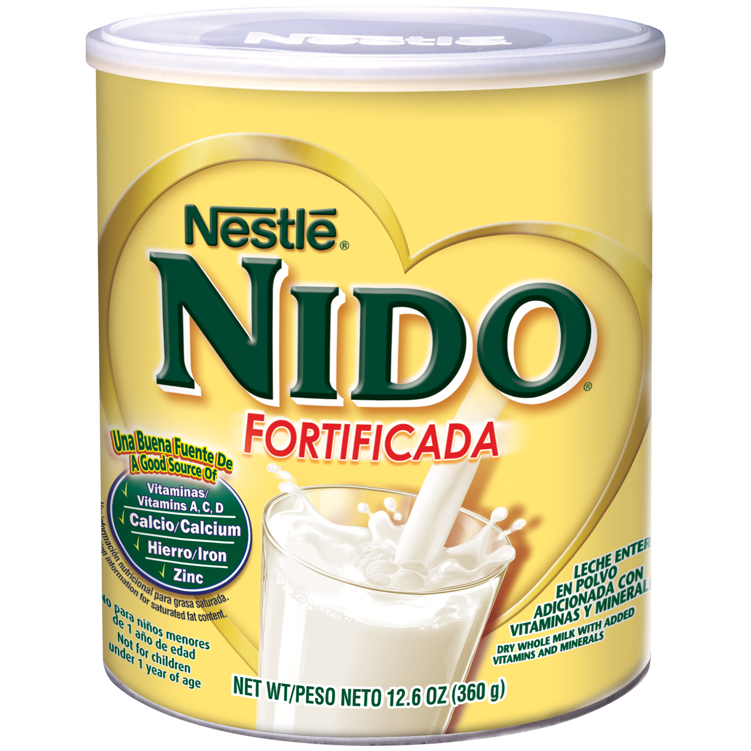 NESTLE NIDO Fortificada Dry Whole Milk, 12 - 12.6 oz Canisters