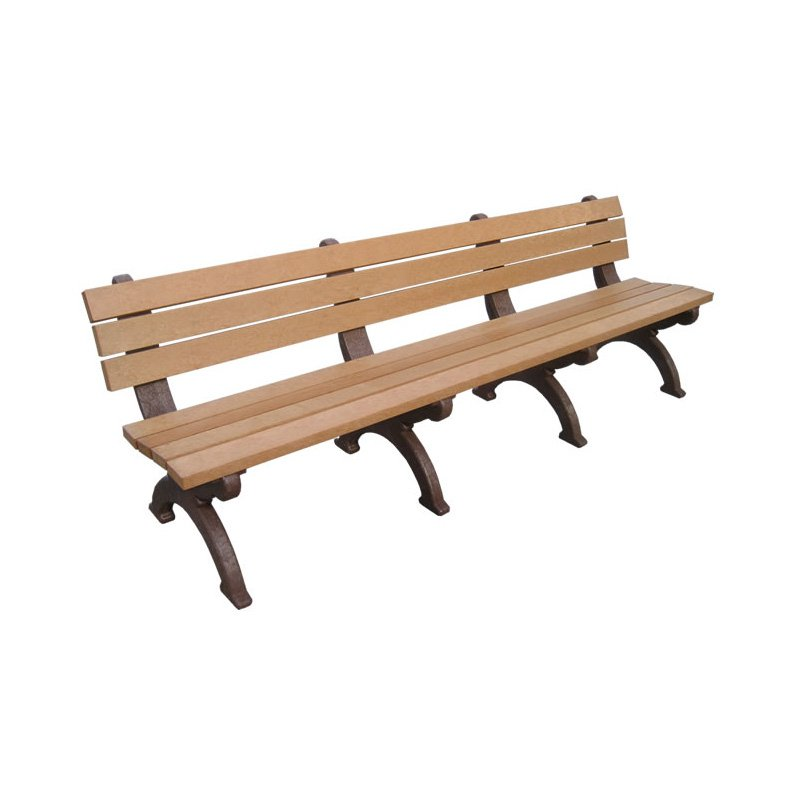 Polly Products Monarque Recycled Plastic Backed Bench