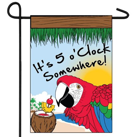 Its 5 o'clock Somewhere Flag 28x40 Party Outdoor Decoration Happy Hour, Novelties company By Novelties company (Novelties Company)