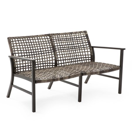 Belham Living Eastport Open Weave All Weather Wicker Loveseat