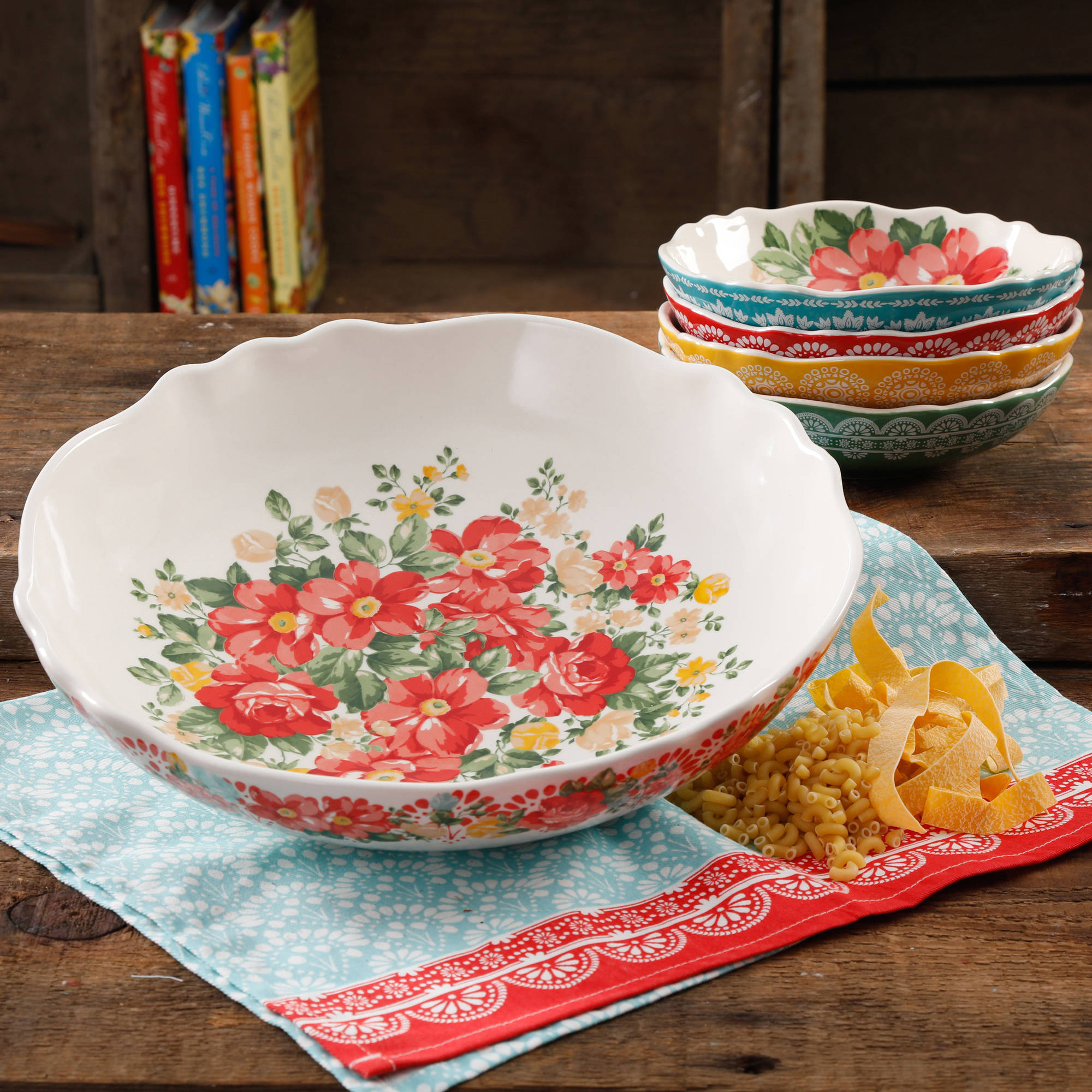 The Pioneer Woman Vintage Floral Pasta Bowl Amazing Set For ...