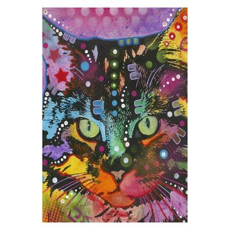 Toland Home Garden Neon Cat Flag ()