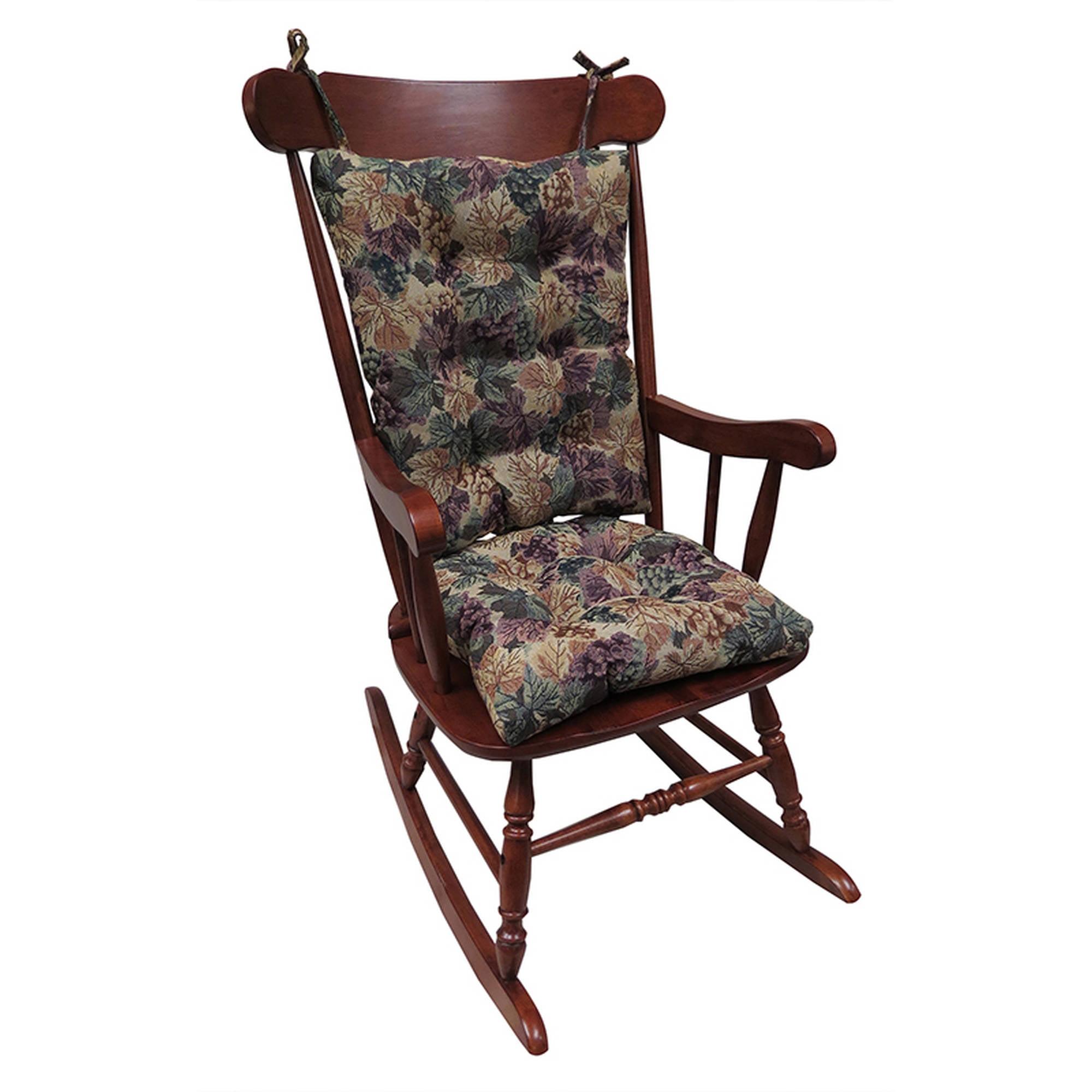 Gripper Jumbo Rocking Chair Cushions, Cabernet