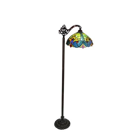 - Chloe  Tiffany Style Victorian Design 1-light Dark Antique Bronze Floor Lamp