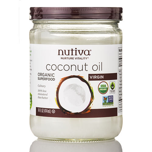 Organic Virgin Coconut Oil (Glass Jar) - 14 fl. oz (414 ml) by Nutiva