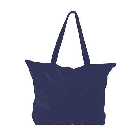 Zipper Tote Bag W Gusset Non Woven Large For Conference Trade Shows Ping 50 Navy