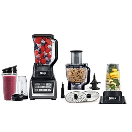 Nutri Ninja Mega 1200 Watts Kitchen System Blending And Food Processing 1 Base 2 Functions Auto Iq Technology