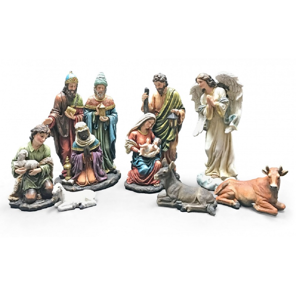 7 Piece Colorful Christmas Nativity Scene Set Holiday Decoration 12 Inch New