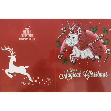 Holiday Clearance Diamond Painting Cartoon Mini Santa Claus Merry Christmas Paper Greeting Postcards Craft DIY Kids Festival Greet Cards](Paper Christmas Crafts)