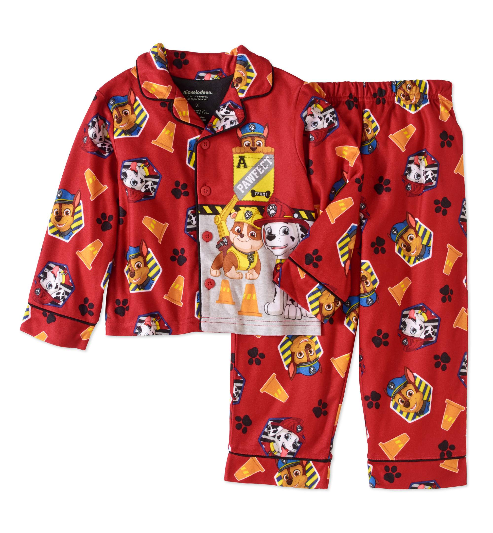 Generic Paw Patrol Toddler Boy Botton Down Pajama Set