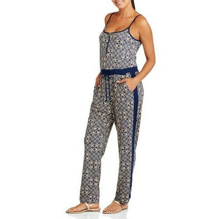 ecfb747fd88 Derek Heart - Juniors Solid Side Zip Neck Jumpsuit - Walmart.com