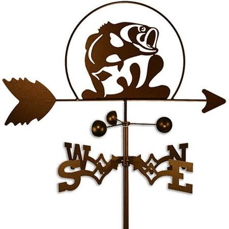 SWEN Products Inc Handmade Jumping Large Mouth Bass Fish Weathervane