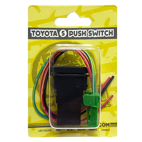 Amber LED CH4X4 Push Switch for Toyota Air Compressor Symbol 3