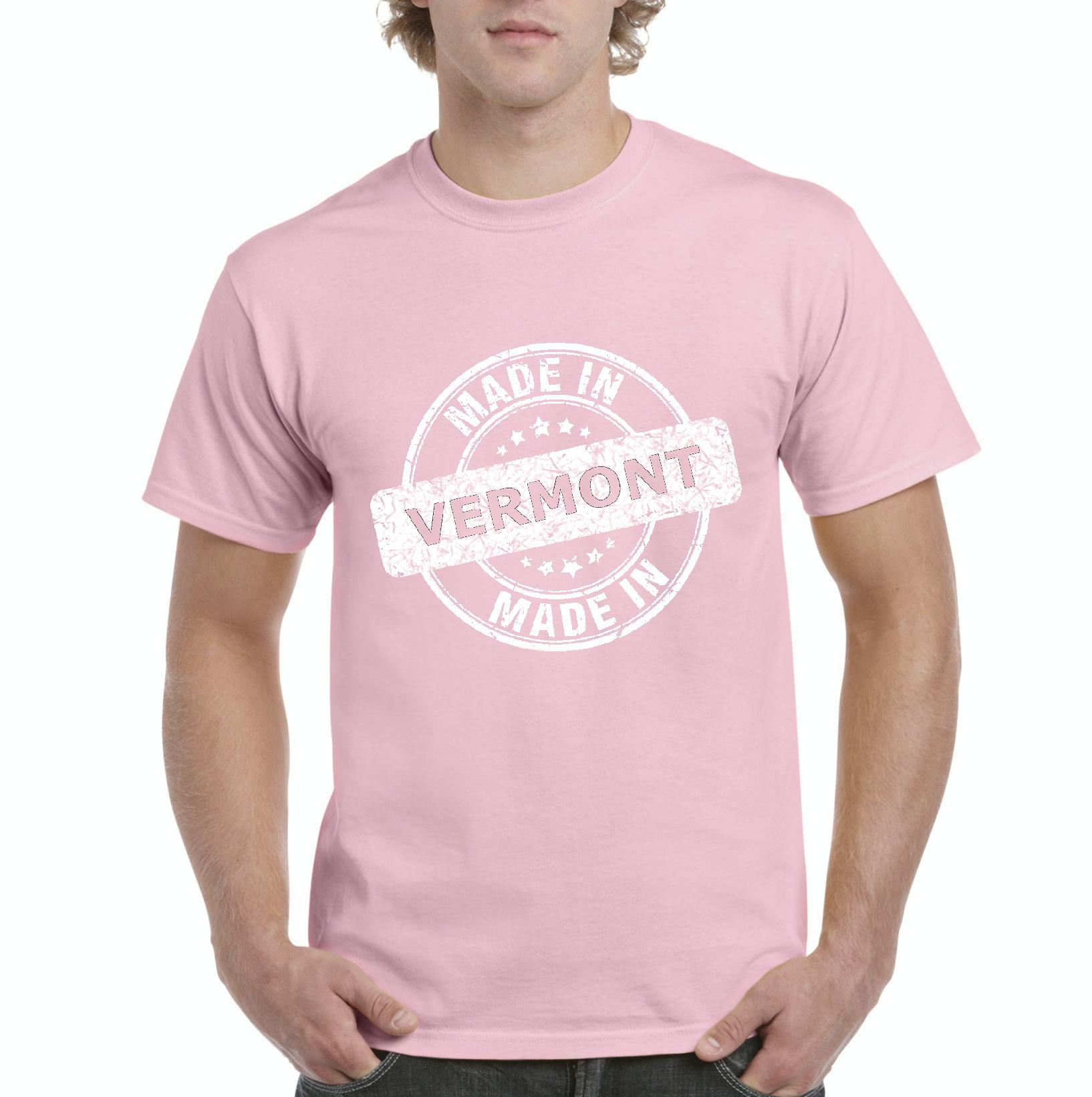 Made in VT Vermont Flag Burlington Map Catamounts Home of University of Vermont Mens Shirts