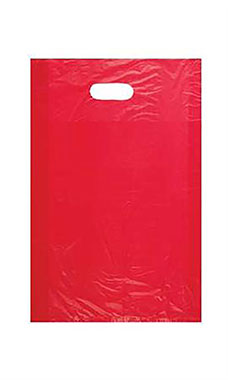 "SSWBasics Large High Density Yellow Plastic Merchandise Bags Case of 1000 15/""W x 4/""D x 24/""H"