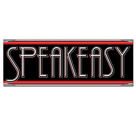 Beistle - 57483 - Speakeasy Sign - Pack of 1 - Speakeasy Decor