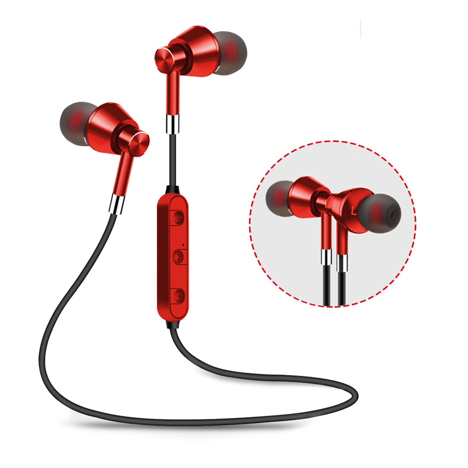 Wireless Bluetooth Headphones with Data Cable, Sport Earbuds Lightweight Magnetic Earbuds Sweatproof in Ear Earphones with Built-in Mic for Running Gym Workout
