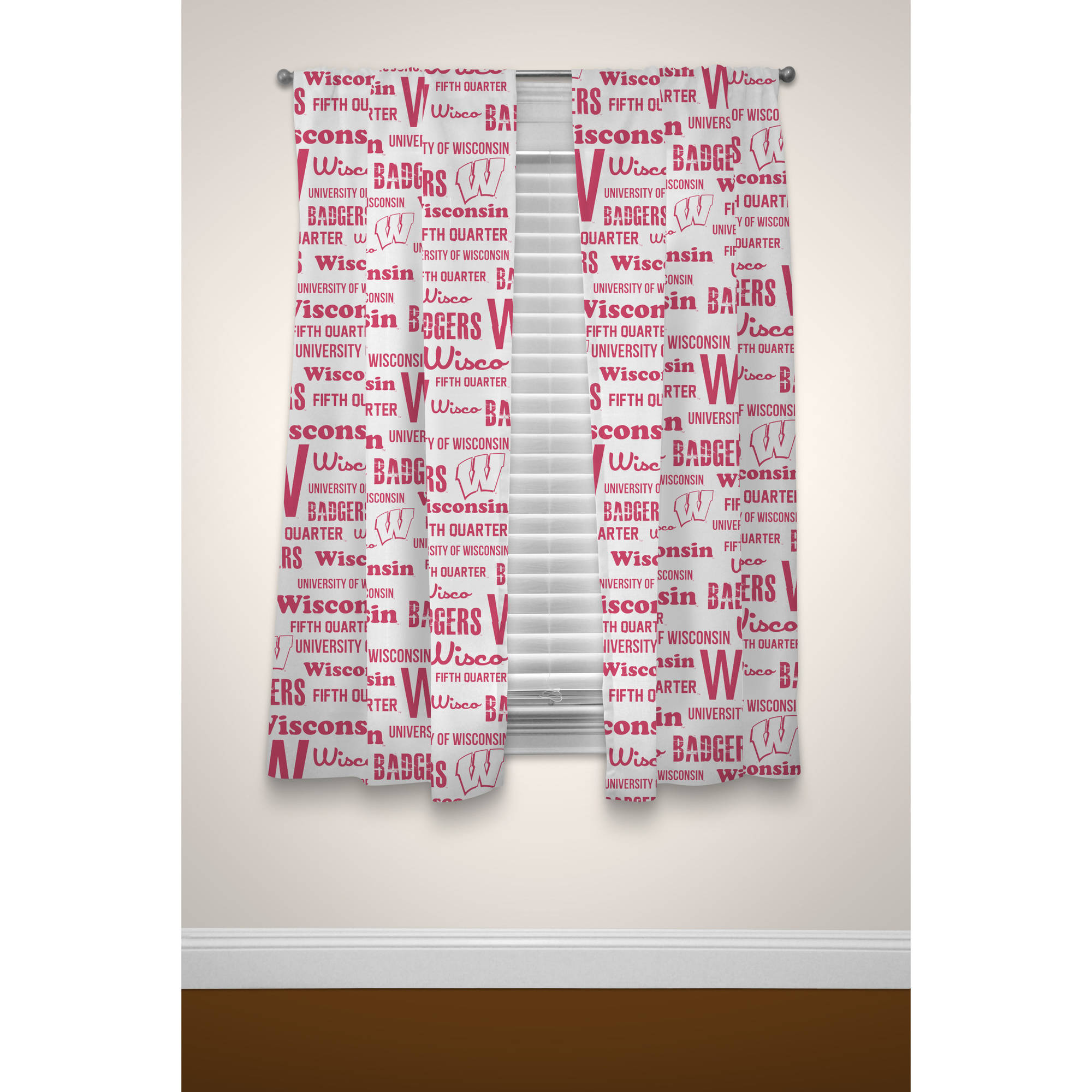 NCAA Wisconsin Badgers Window Curtain Panels