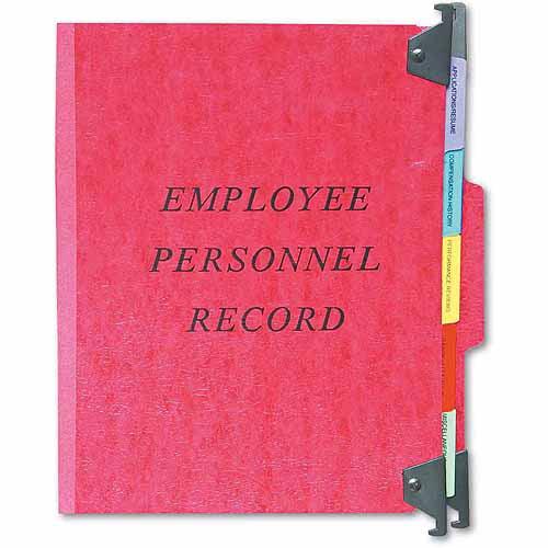 Esselte Pendaflex Hanging Personnel Folders, 1/3 Cut Top Tab, Letter, Red