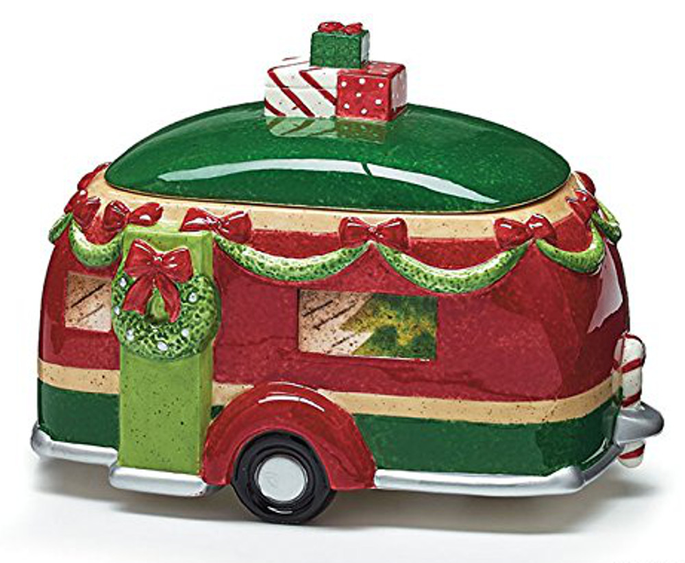 Click here to buy Burton & Burton Christmas Holiday Road Camper Ceramic Cookie Jar by Burton and Burton.