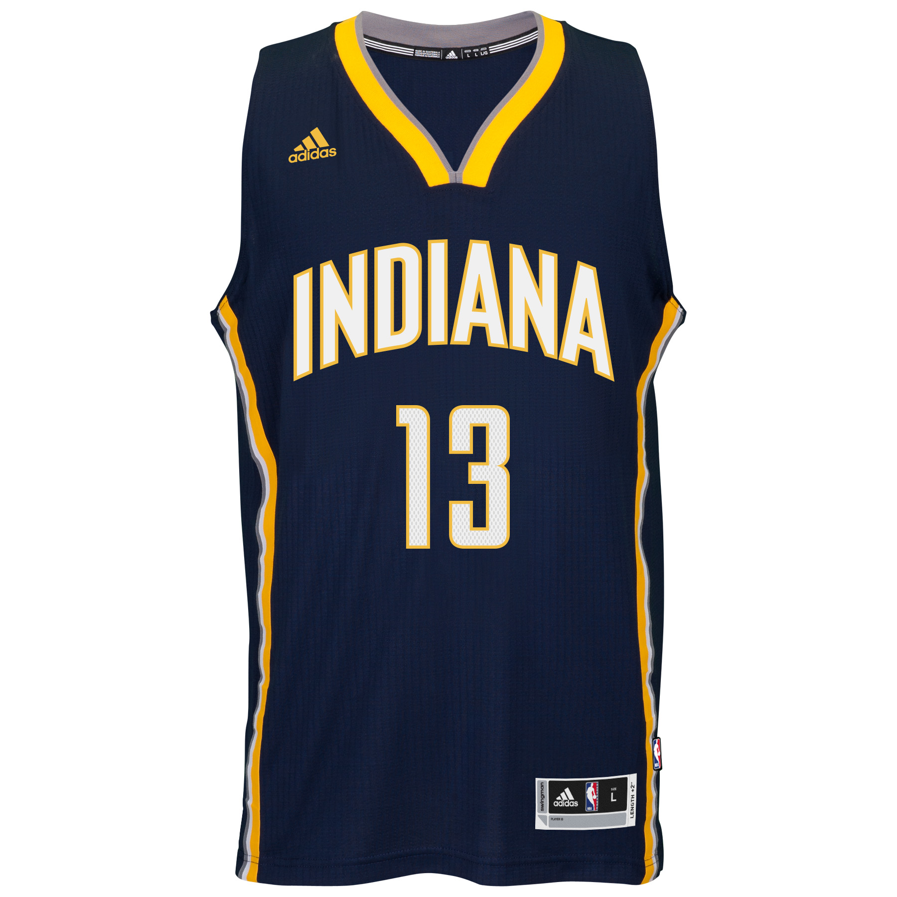 Paul George Indiana Pacers Adidas NBA Swingman Jersey - Blue
