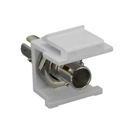 Cable Leader KJ310-81ST Fiber Optic ST Multimode Simplex Keystone Insert Module - White