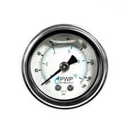 "1 Pc) Water Pressure Gauge Liquid Filled 0-150 PSI 1/8"" tube Water Oil Gas Air"