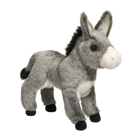 Donkey Pull Toy - Elwood Donkey 11 inch - Stuffed Animal by Douglas Cuddle Toys (1880)