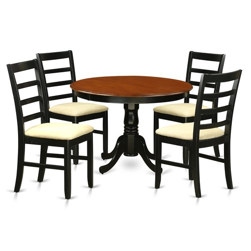 August Grove Travis 5 Piece Solid Wood Dining Set