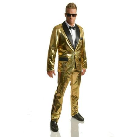 Halloween Disco Ball Tuxedo Set with Pants - Gold](Mc Hammer Gold Pants)