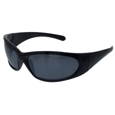 CANT SEE EYES BLACK REFLECTIVE Sunglasses Sports Biker Gangster Wrap - Gangsta Sunglasses