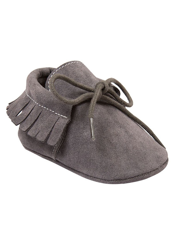 BOBORA Baby Girl Shoes Toddler Girl Boy PU Moccasins Soft Sole Anti-Slip Tassel Crib Shoes