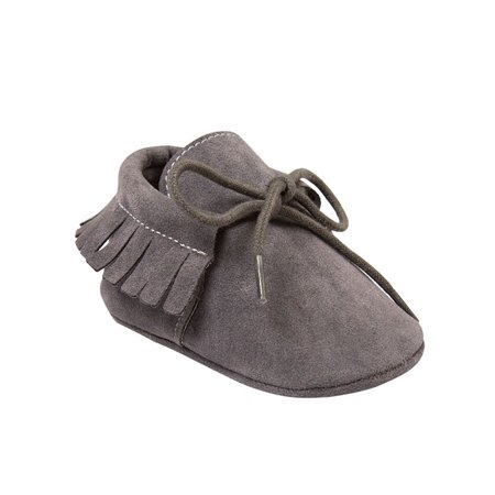 Lavaport Newborn Baby Boy Girl Moccasins Shoes Fringe Soft Soled Non-slip Footwear Crib Shoes PU Suede Leather First Walker Shoes ()