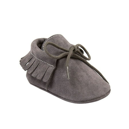 Newborn Shoe Sizes - Lavaport Newborn Baby Boy Girl Moccasins Shoes Fringe Soft Soled Non-slip Footwear Crib Shoes PU Suede Leather First Walker Shoes