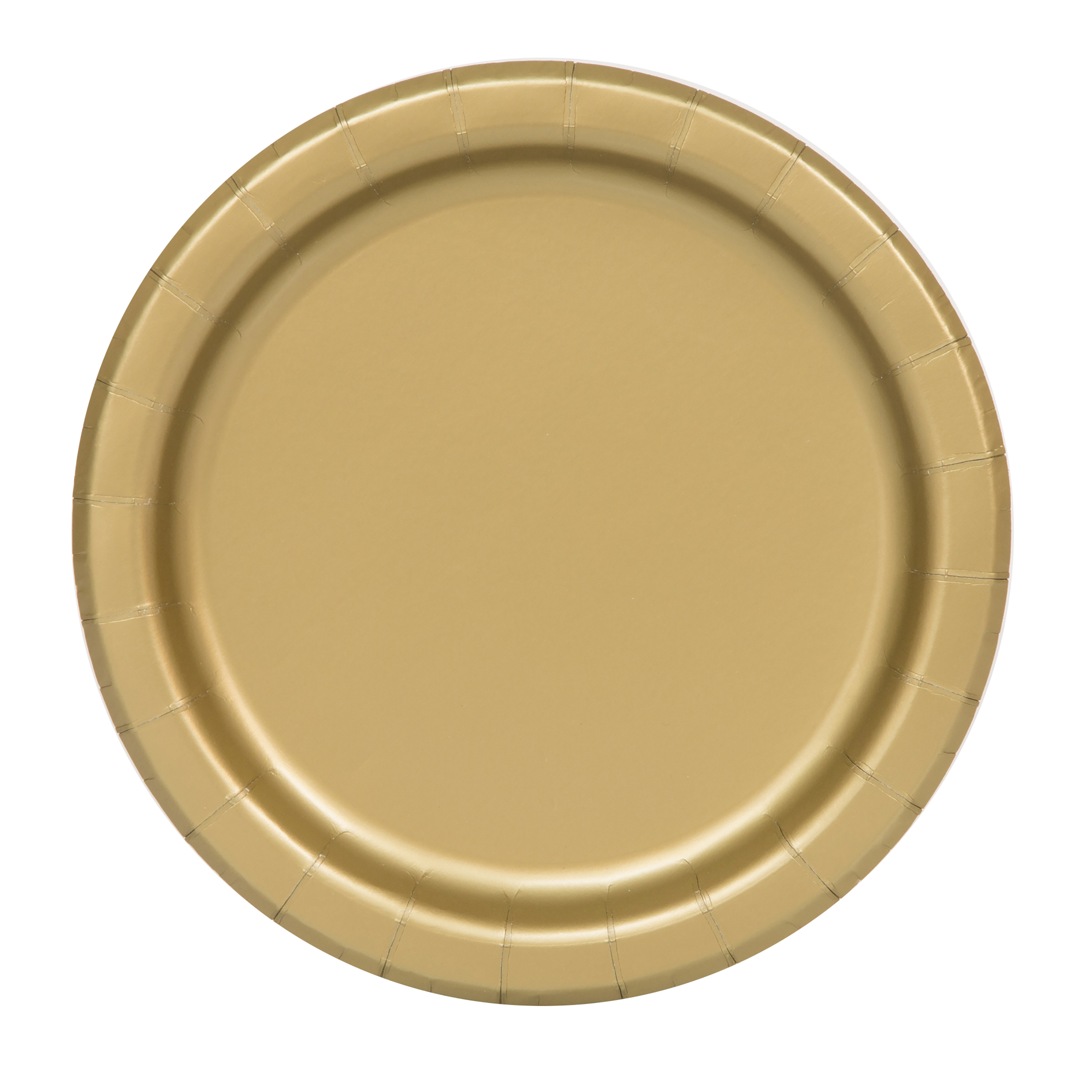 Paper Plates, 7 in, Gold, 70ct