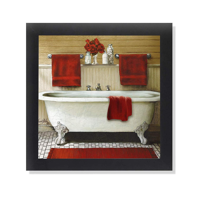 BATH HOUSE Framed Art Print Valerie Walsh Spring Cleaning Art Laundry Wall Art Laundry Room Painting Bath Tub Print 12x12
