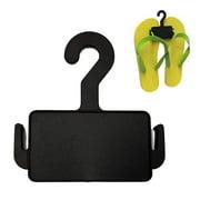 Flip Flop Hanger - Retail Sandal Displayer - Black - 10 Pack