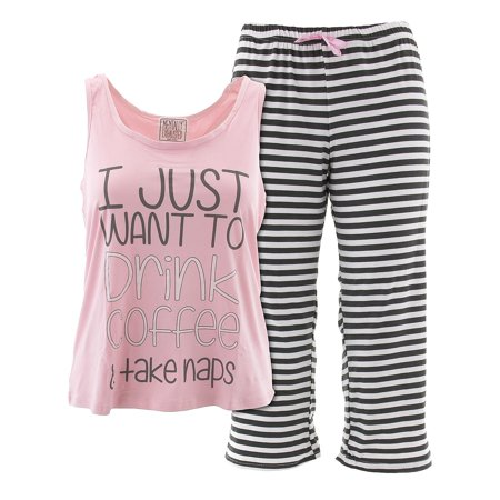 - Mentally Exhausted Juniors Take Naps Pink Capri Pajamas L