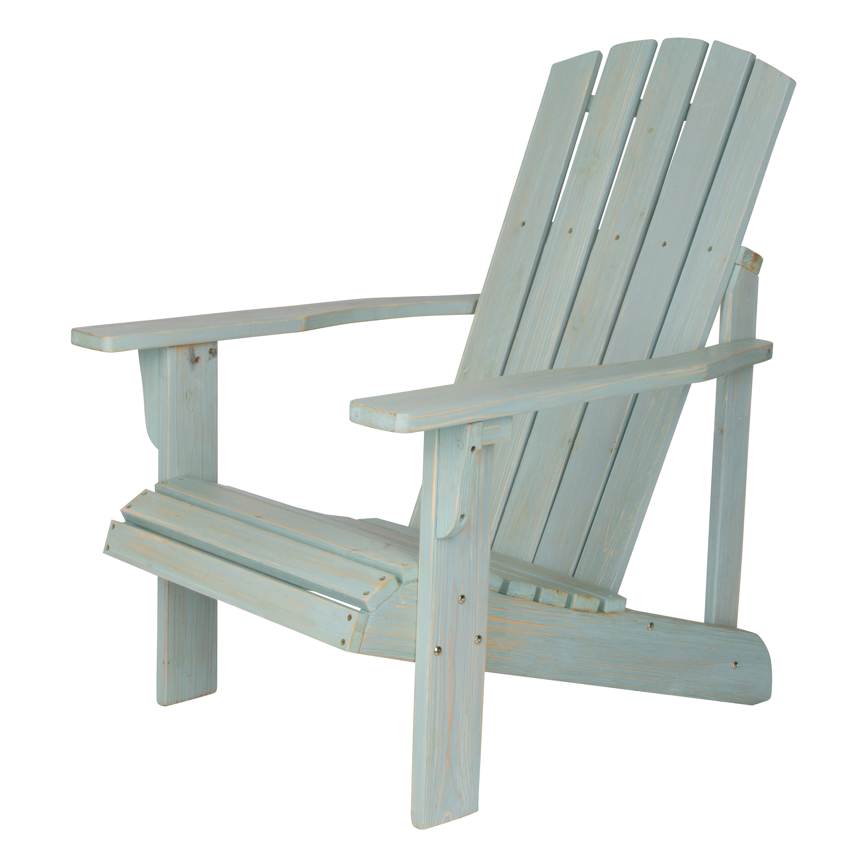 Shine Company Lakewood Rustic Adirondack Chair - Dutch Blue