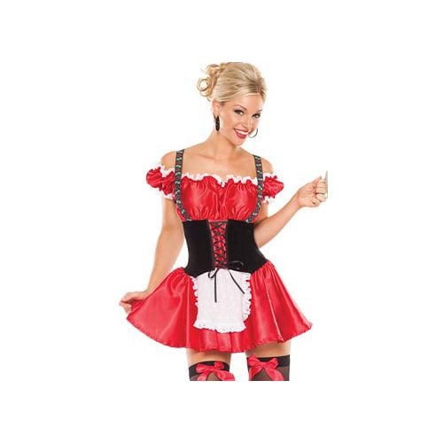Coquette Bavarian Beer Girl Costume Set M6140 Red/Black