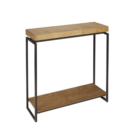 Better Homes & Gardens Juno Natural Wood Skinny Console Table with Shelf ()