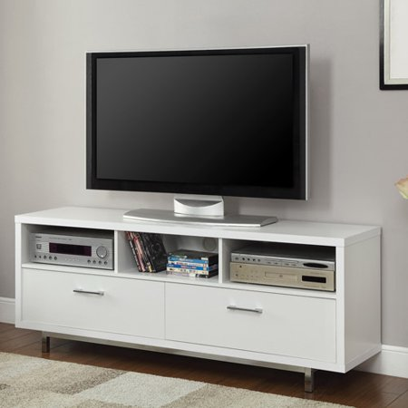 Contemporary White Floating top TV Console for TVs up to 46″
