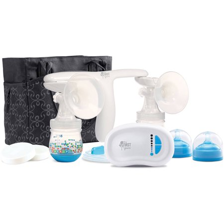 The First Years Quiet Expressions Plus Double Breast Pump, Rechargeable Electric Breast Pump