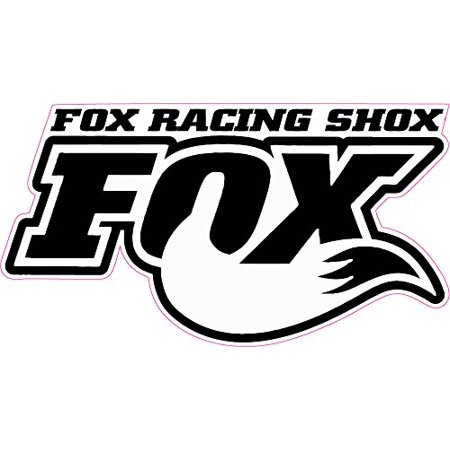 Fox Racing Shox Tall White Decal Free Shipping in the United States.