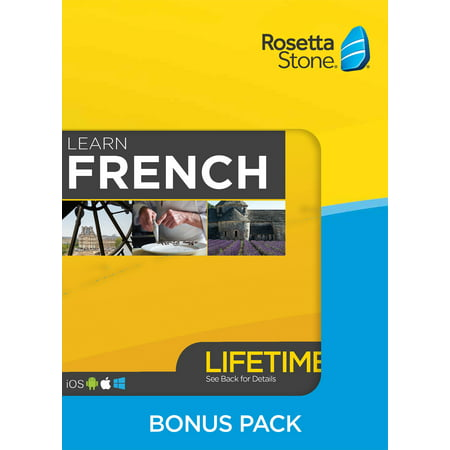 Rosetta Stone: Learn French Bonus Pack (Lifetime Access + Book Set)