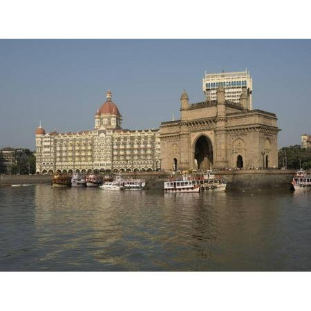 Gateway of India with Taj Mahal Palace and Tower Hotel in the background, Colaba, Mumbai, Mahara... Print Wall Art