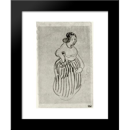Vans With Skirts (Woman with Striped Skirt 20x24 Framed Art Print by Vincent van)